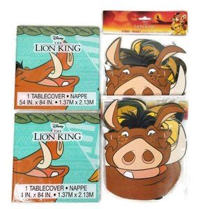 Lion King Party Supplies 16 Masks 2 Tablecloths